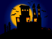 Halloween. Night themed background illustration Royalty Free Stock Photography