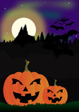 Halloween. Night themed background illustration Royalty Free Stock Photo