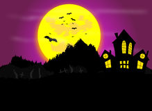Halloween. Night themed background illustration Royalty Free Stock Photos