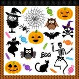Halloween night trick or treat digital collage Stock Photos