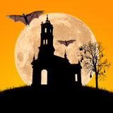 Halloween night,useful for some Halloween concept Royalty Free Stock Image