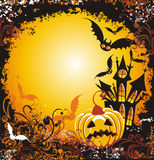 Halloween night. Vector illustration  Stock Photo