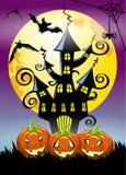 Halloween night vertical background Stock Photo