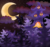 Halloween night wallpaper. Vector illustration royalty free illustration