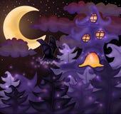Halloween night wallpaper Royalty Free Stock Photos