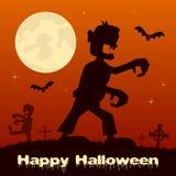 Halloween Night - Zombie and Graveyard Royalty Free Stock Photos