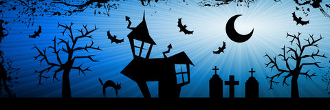 Halloween nightmare background Royalty Free Stock Image
