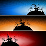 Halloween nightmare banner background Royalty Free Stock Photos