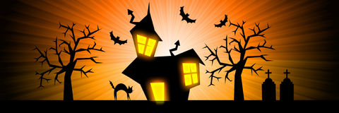 Halloween nightmare rays banner background Royalty Free Stock Photo