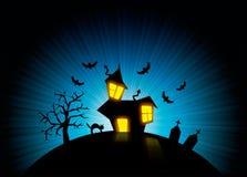 Halloween nightmare world background Stock Photo