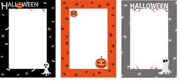 Halloween nodigt affichegrens uit Royalty-vrije Stock Foto's