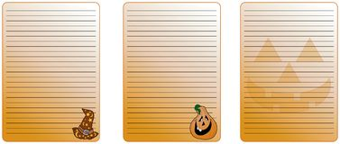 Halloween note Stock Image