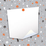 Halloween note paper Royalty Free Stock Image
