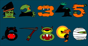 Halloween Numbers Royalty Free Stock Photography
