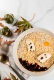Halloween oats for kids stock photos