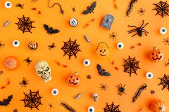 Halloween object background stock photo