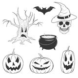 Halloween object set Stock Images