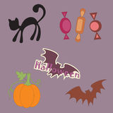 Halloween objects Stock Image