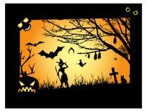 Halloween od tła blasku księżyca uwagi Obrazy Stock