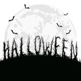 Halloween od tła blasku księżyca uwagi Fotografia Royalty Free