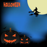 Halloween od tła blasku księżyca uwagi Obrazy Royalty Free
