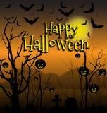 Halloween od tła blasku księżyca uwagi Zdjęcia Royalty Free