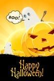 Halloween odizolowane tło charakteru ponad plakat Zdjęcie Stock