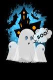 Halloween odizolowane tło charakteru ponad plakat Obraz Stock