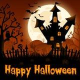 Halloween odizolowane tło charakteru ponad plakat Zdjęcia Stock