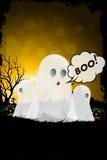 Halloween odizolowane tło charakteru ponad plakat Obrazy Stock