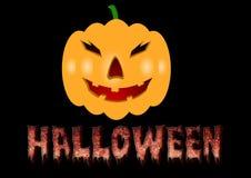 Halloween odizolowane tło charakteru ponad plakat Obraz Royalty Free