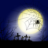 Halloween old cemetery  background Stock Photography
