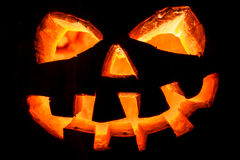 Halloween - old jack-o-lantern Royalty Free Stock Photography