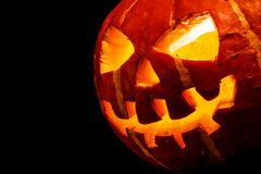 Halloween - old jack-o-lantern Stock Image