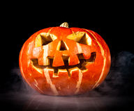 Halloween - old jack-o-lantern Stock Photo