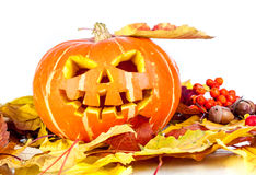 Halloween - old jack-o-lantern Royalty Free Stock Image