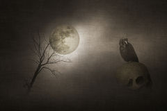 Halloween old textured paper background Stock Images