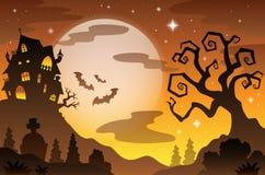 Halloween-onderwerpachtergrond 2 stock illustratie