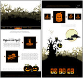 Halloween one page design template Stock Photography