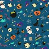 Halloween-ontwerp van het partij het naadloze patroon vector illustratie