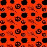 Halloween-ontwerp van het partij het naadloze patroon Allen zegenen vooravond herhaalde druk Vector beeldverhaalillustratie vector illustratie