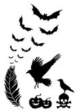 Halloween-ontwerpelementen, vectorreeks Royalty-vrije Stock Afbeelding