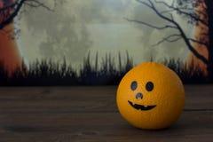 halloween orange royaltyfri bild