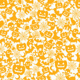 Halloween orange background. Background of Halloween orange illustrations Stock Images