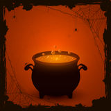 Halloween orange background with potion Royalty Free Stock Image