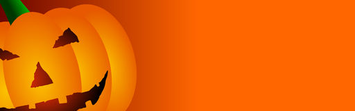 Halloween Orange Banner Royalty Free Stock Photo