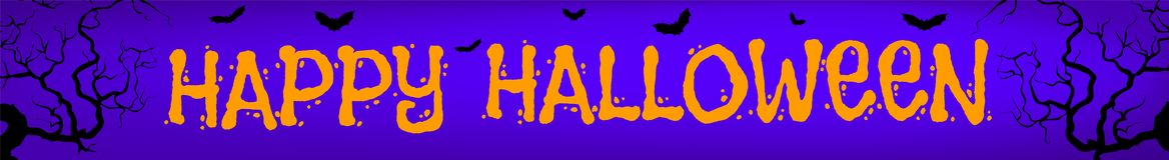 Halloween orange banner stock illustration
