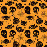 Halloween Orange Pattern Royalty Free Stock Image