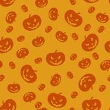 Halloween Orange Pumpkins Seamless Background stock photos