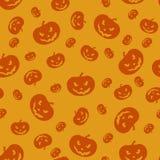Halloween Orange Pumpkins Seamless Background royalty free illustration